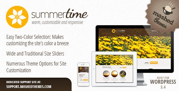 ThemeForest Summertime Responsive Multi-Purpose Theme 3182517