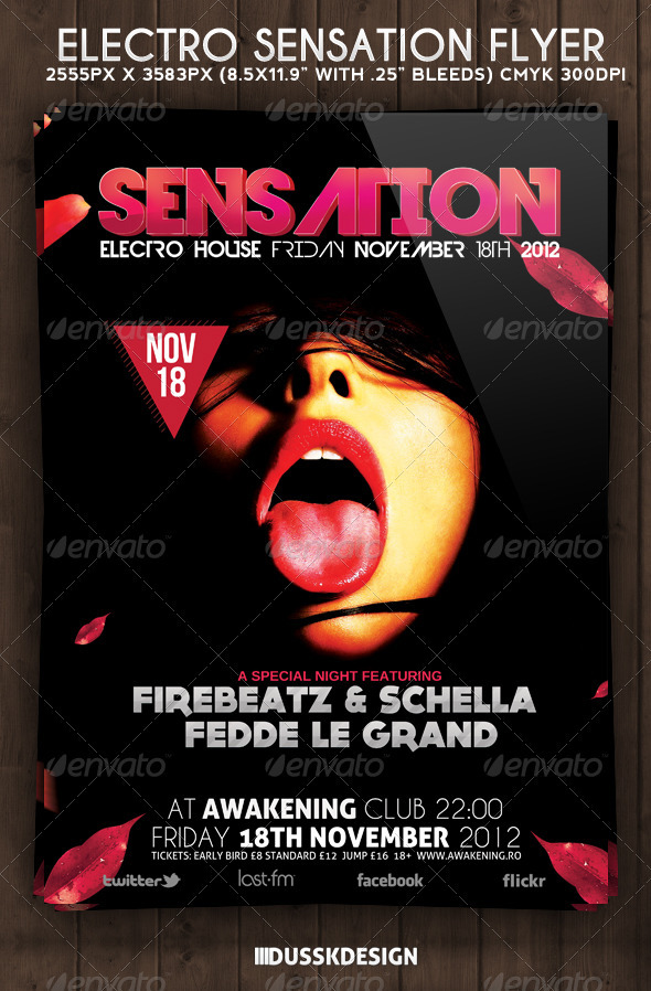 GraphicRiver Electro Sensation Flyer 3297409