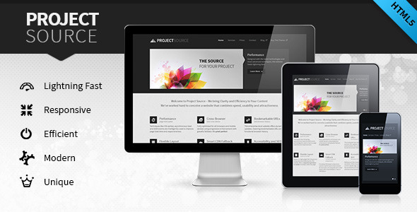 ThemeForest Project Source Corporate HTML5 Responsive Website Site Templates Corporate 3158481
