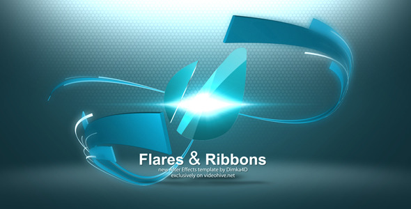 VideoHive Flares & Ribbons Logo Reveal 3320848