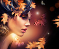 Autumn Woman Fashion Portrait. Fall - PhotoDune Item for Sale