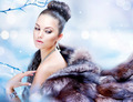 Winter Woman in Luxury Fur Coat - PhotoDune Item for Sale
