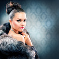 Beautiful Woman in Luxury Fur Coat - PhotoDune Item for Sale