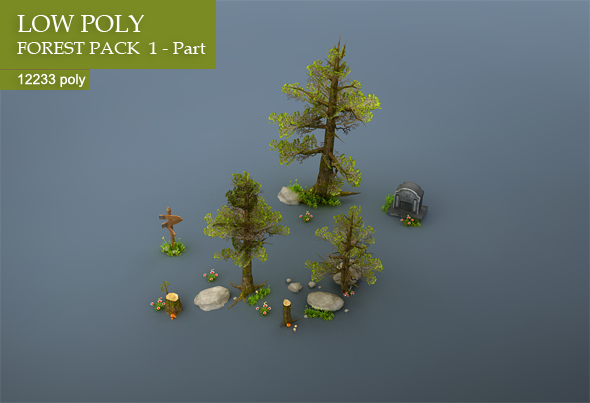 Forest Low Poly Tree Pack » Dondrup com