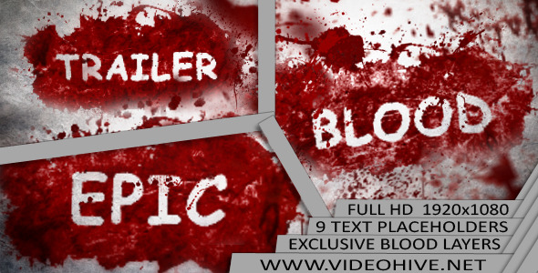 After Effects Project - VideoHive Epic Blood Trailer 3296729