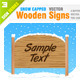 4 Wooden Sign - GraphicRiver Item for Sale