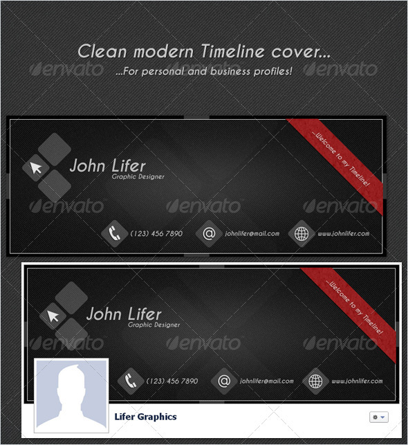 GraphicRiver Clean Modern FB Timeline Cover 1944809