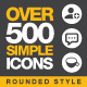 Over 500 Simple Icons - GraphicRiver Item for Sale