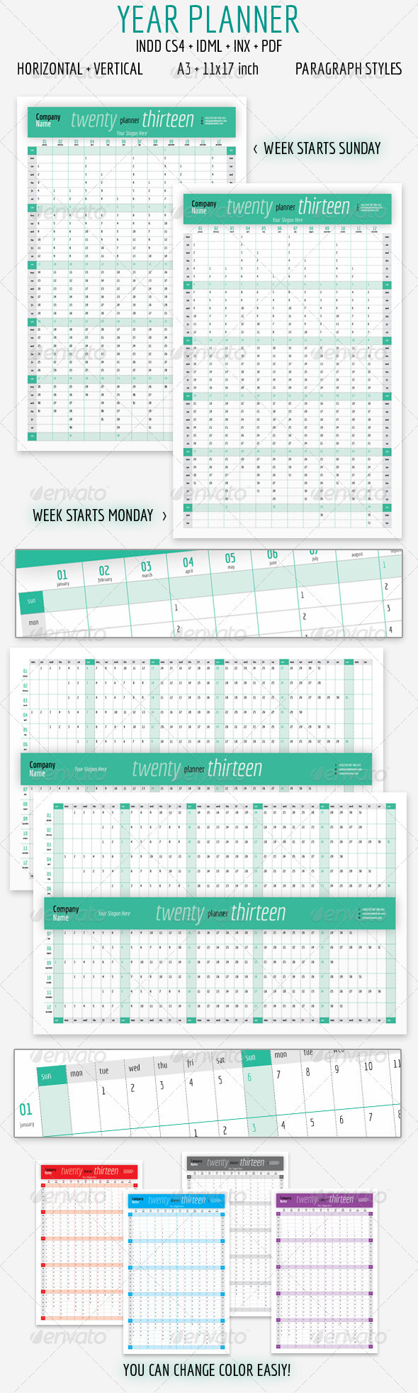GraphicRiver Year Planner 2013 3335018