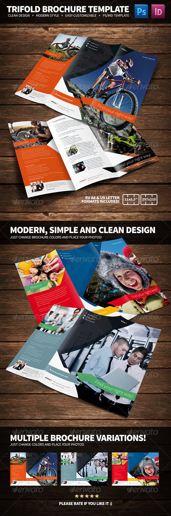 GraphicRiver Activities Multipurpose Trifold Brochure 3339521