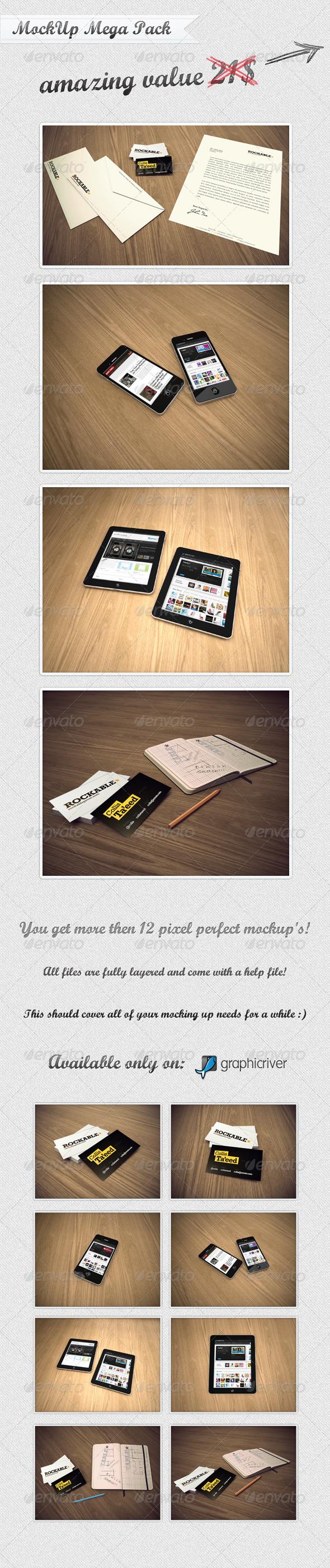 GraphicRiver MockUp Mega Pack 336835