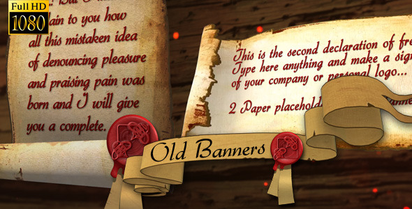VideoHive Old Banners and Papers 3302687