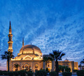 Illuminated mosque during twilight in lebanon  - PhotoDune Item for Sale