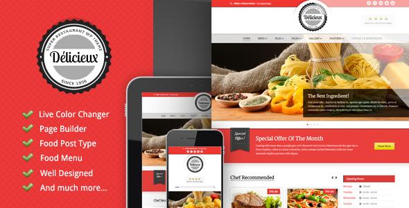 ThemeForest Delicieux Restaurant Wordpress Theme 3346328