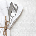 Knife and fork with white linen - PhotoDune Item for Sale