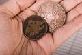 Old Coins In Hand - PhotoDune Item for Sale