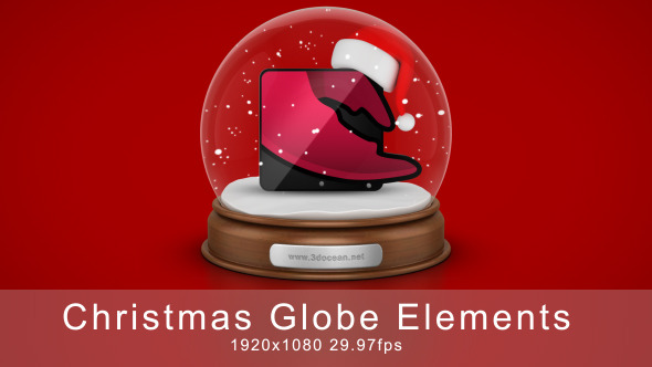 VideoHive Christmas Globe Elements 3351423