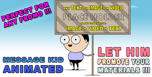 After Effects Project - VideoHive Message Kid Animated HD 3352958
