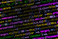 Wall of JavaScript Source Code on Monitor (Closeup) - PhotoDune Item for Sale