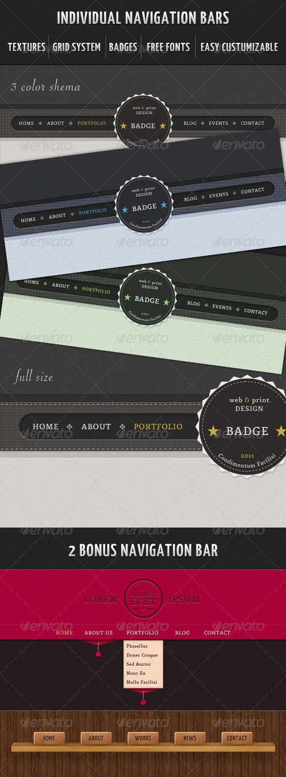 GraphicRiver Individual Navigation Bars 337056