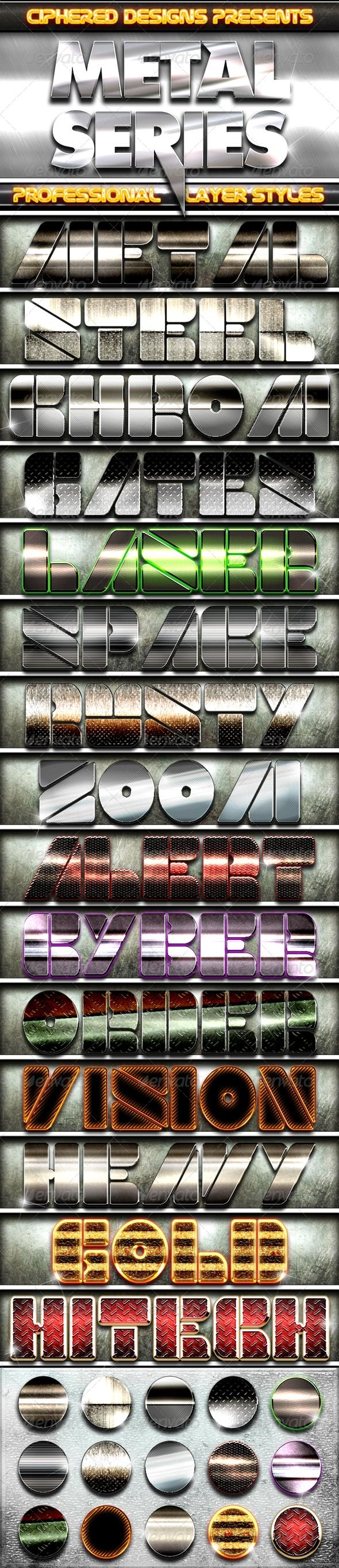 GraphicRiver Metal Series Professional Layer Styles 3355702