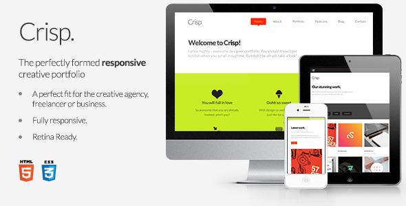 ThemeForest Crisp Creative Designer Portfolio Site Templates Creative Portfolio 3253860