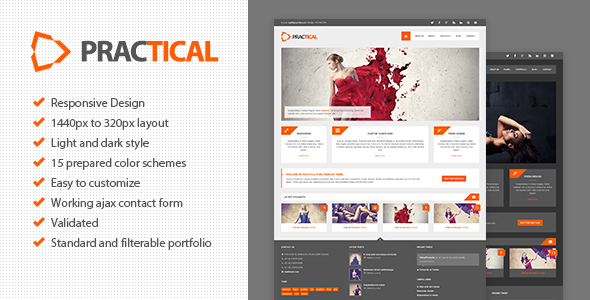 ThemeForest Practical HTML Responsive Theme Site Templates Creative Photography 3359922