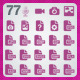 77 AI and PSD Documents Icons - GraphicRiver Item for Sale