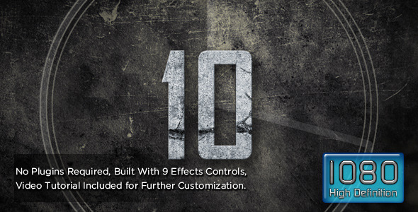 After Effects Project - VideoHive Grunge Smoke and Fire Countdown 3330836