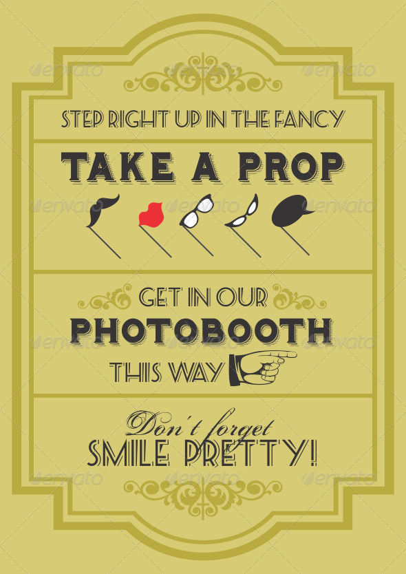 13 Sign Template For Photo Booth Props - GraphicRiver Previewer
