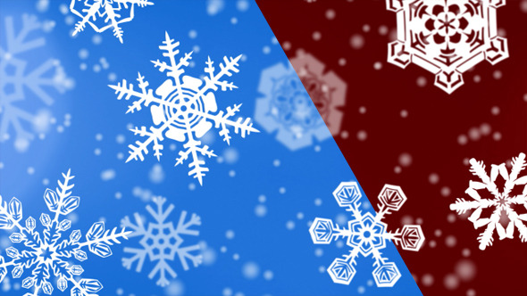 VideoHive Christmas Snowflakes Backgrounds 3372406