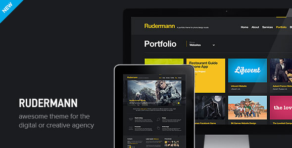 ThemeForest Rudermann Agency / Business PSD Template PSD Templates Creative 3370418