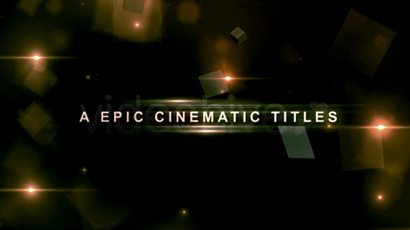 VideoHive A Epic Cinematic Titles 20 Titles 3374580