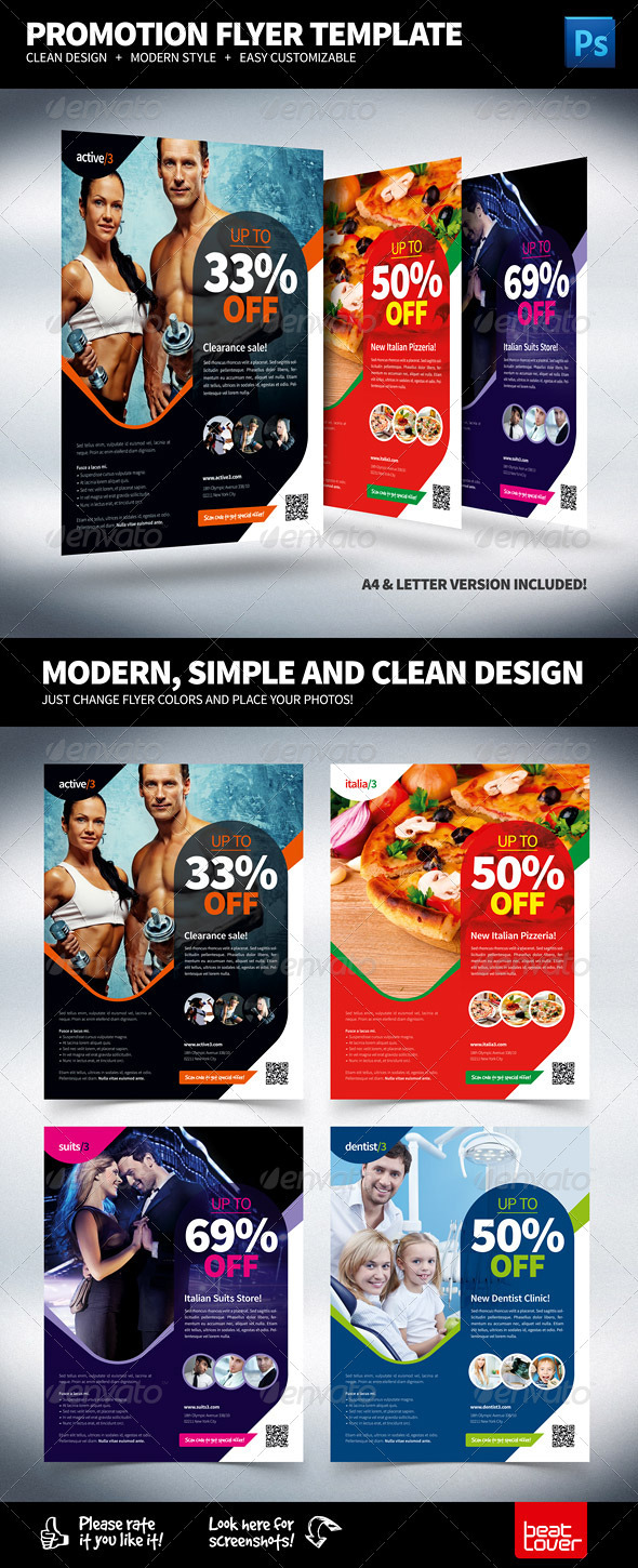 GraphicRiver Multipurpose Promotional Flyer 3375438