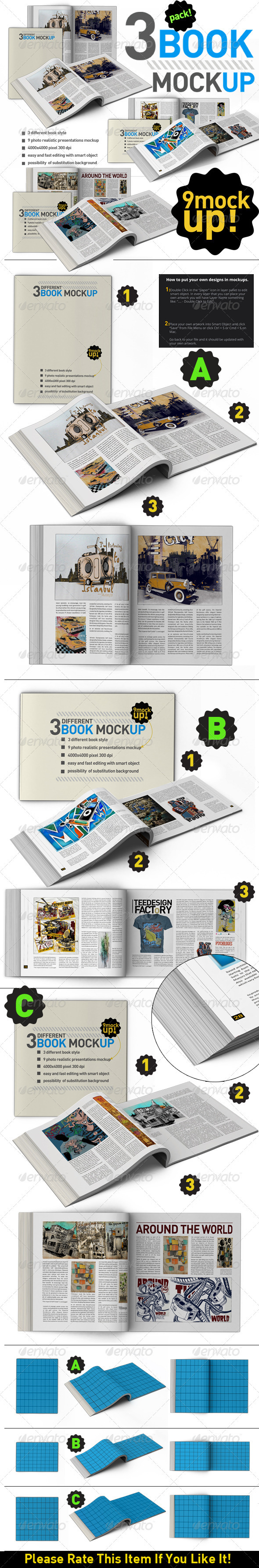 GraphicRiver Book Mock Up Pack 3380644