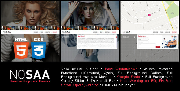 ThemeForest Nosaa Full Page Slider Creative Template 3172439