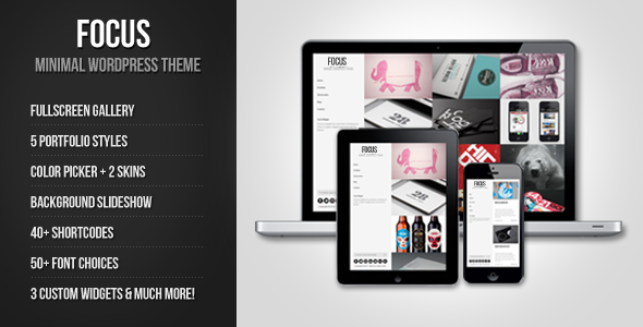 ThemeForest Focus Minimal WordPress Theme WordPress Creative Portfolio 3293567
