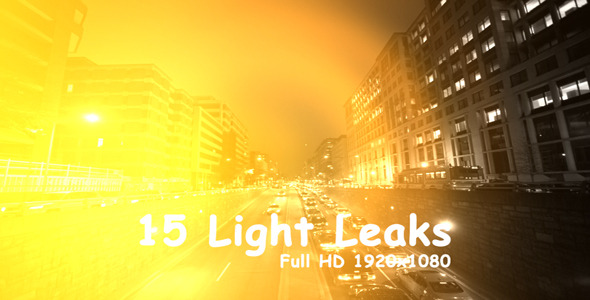 VideoHive Light Leaks 4 15-Pack 3394040