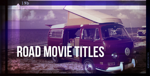 After Effects Project - VideoHive Road Movie Titles 3394934