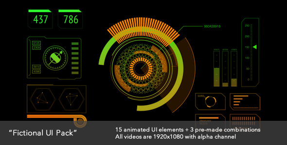VideoHive Fictional UI Pack 3399067