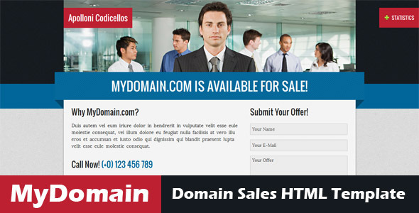 mydomain domain for sale html5 template site templates. Black Bedroom Furniture Sets. Home Design Ideas