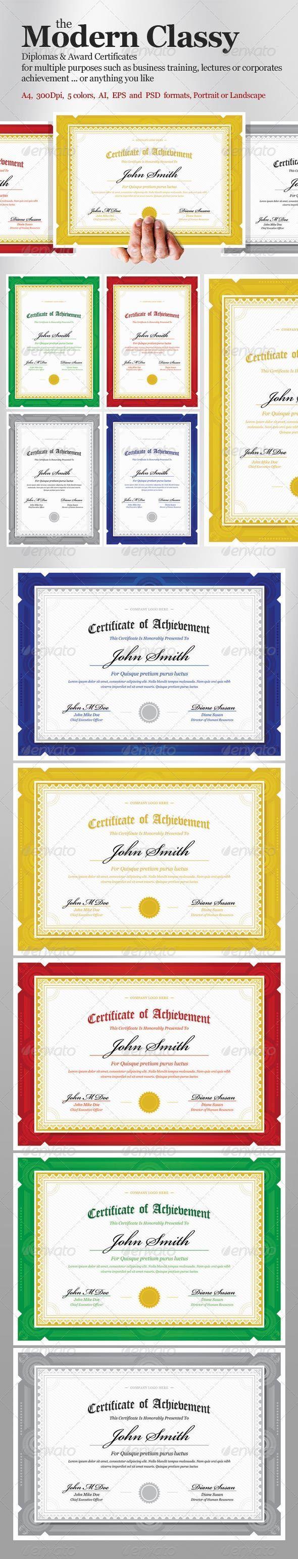 GraphicRiver Modern Classy diploma award Certificate 3403319