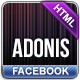 Adonis - Premium Facebook Template - ThemeForest Item for Sale