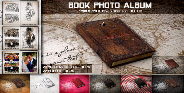 After Effects Project - VideoHive Book Photo Album 3371645