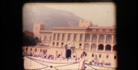 VideoHive Vintage 8mm Prince's Palace Of Monaco And Tourist 3410213