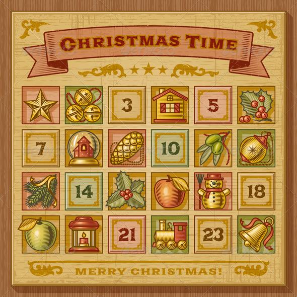 christmas numbers for advent calendar new calendar template site. Black Bedroom Furniture Sets. Home Design Ideas
