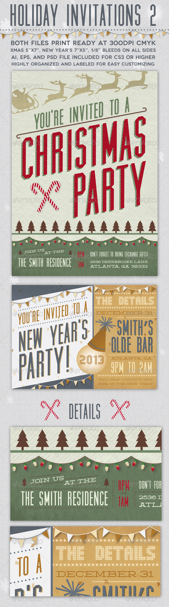GraphicRiver Holiday Invitations 2 3411371