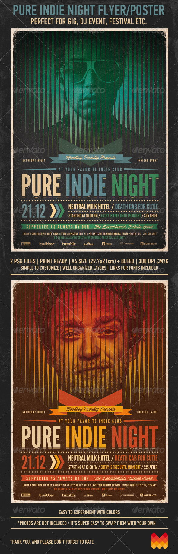GraphicRiver Pure Indie Night Flyer Poster 3411383