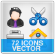 General 72 Icons - GraphicRiver Item for Sale