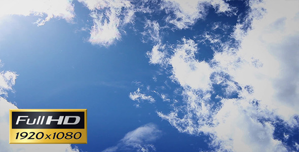 VideoHive Whisping Clouds On Blue Sky 3411731